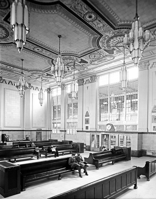 [Main Lobby of the Terminal Building, Texas & Pacific Railway Company]