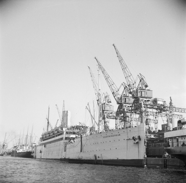 The harbour in Gothenburg 1946