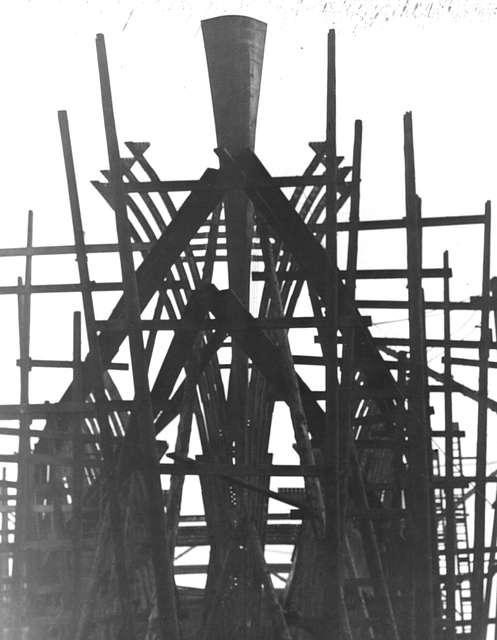 The Skeleton on a new ship at Joseph L Thompson & Sons Ltd
