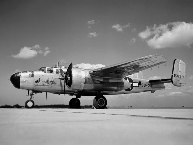 Specially-Equipped Martin XB-25E Icing Research Aircraft