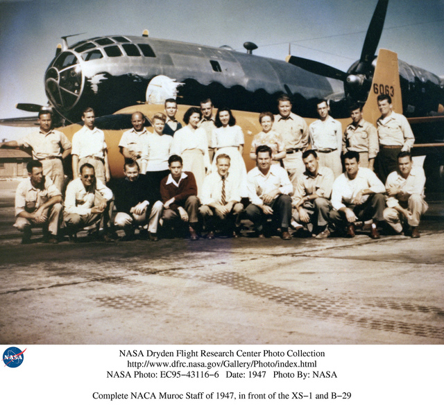 NACA Muroc Contingent with X-1-2 Aircraft