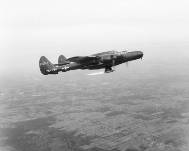 P-61 Flight Testing Ramjet Engine