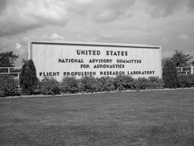 Entrance to the NACA's Flight Propulsion Research Laboratory