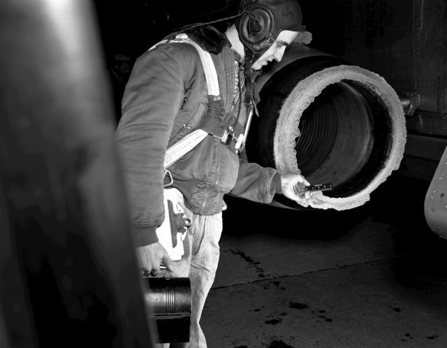 Icing on J-34 Engine