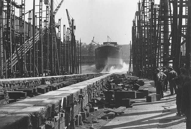 Launch of the tanker 'British Venture'