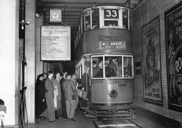 Staff from Stockholm Transport visiting London Transport 1948