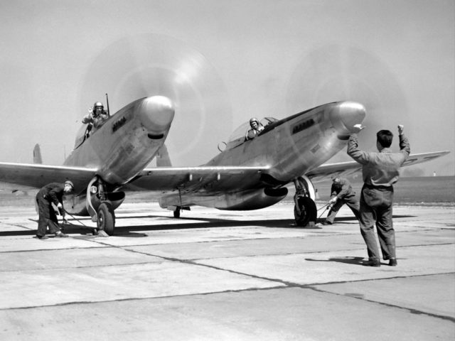 North American XF-82 Twin Mustang Prepares for Ramjet Test Flight