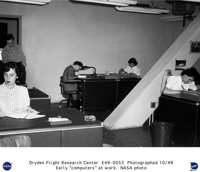 Early NACA Human Computers at Work