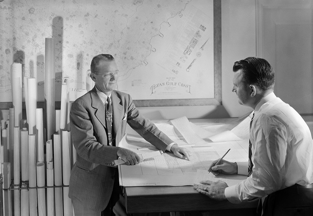 Personnel in Houston office, Superior Oil Co., K. G. McCann and John M. Morgan, Geophysical Department