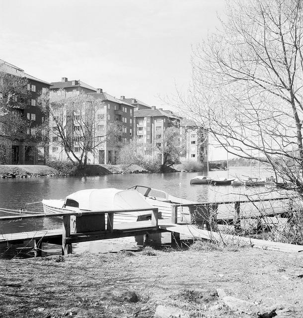 Pleasure crafts at Långholmen in Stockholm 1949