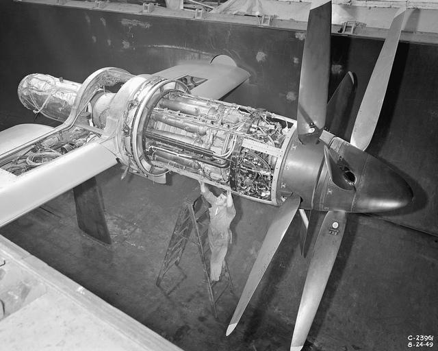 Python Engine Installed in Altitude Wind Tunnel