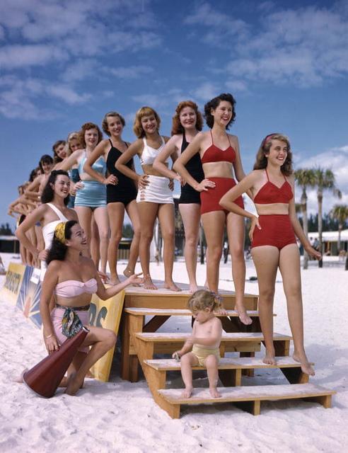 Sarasota Sun-Debs at Lido Beach, Florida