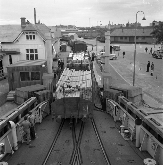 The harbour in Malmö 1949