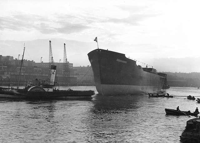'Thorshavn' afloat after launch