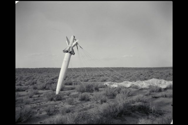 NACA photograpehr Drop 2 SI-2 body in free fall flight  (SI-II missile) ARC-1950-A-15481