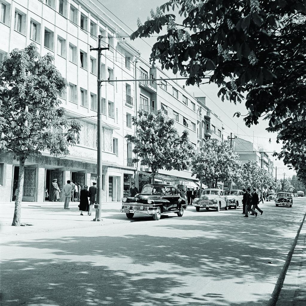 Atatürk Boulevard, Grand Movie Theater and the Office Block, 1950s