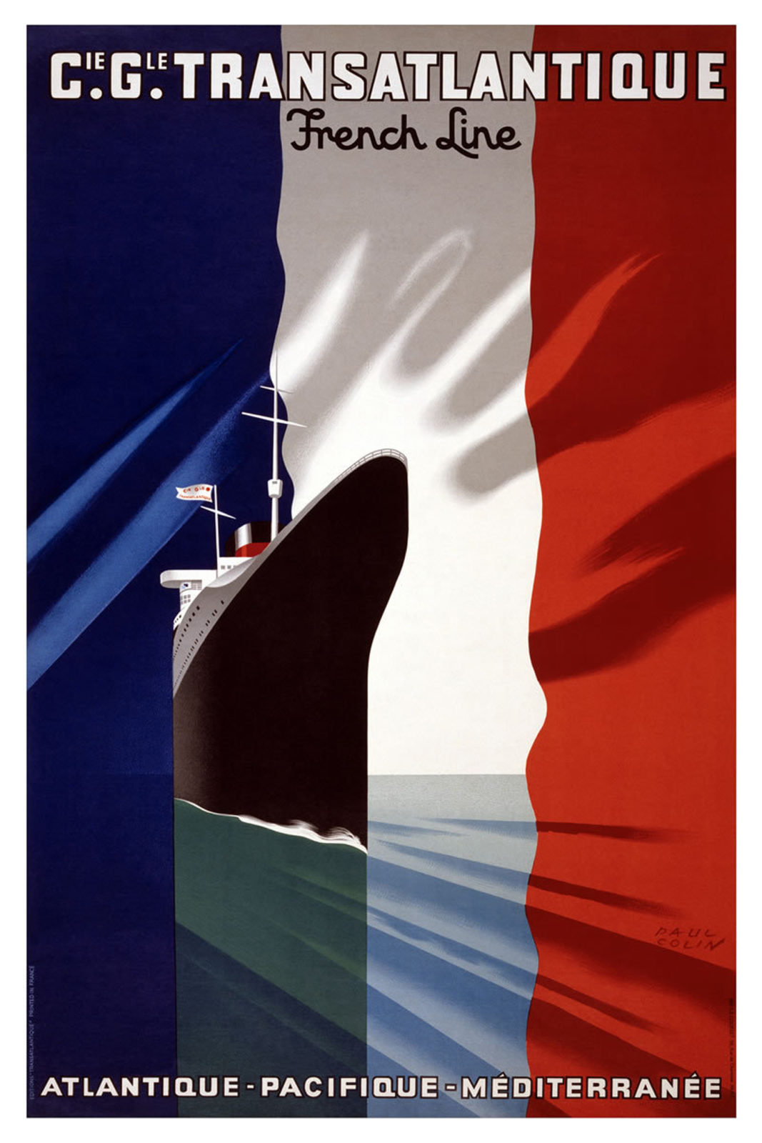 G.G. Transatlatique. Vintage Travel Poster.