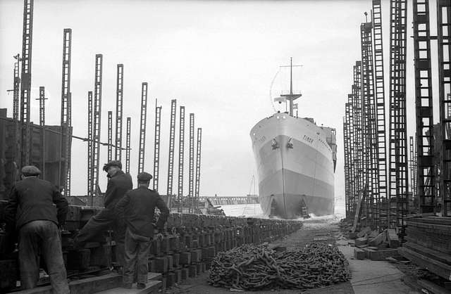 Launch of the 'Timor' at Bartrams shipyard