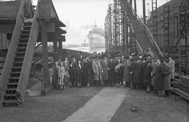 Launch party of the passenger and cargo ship 'Timor'