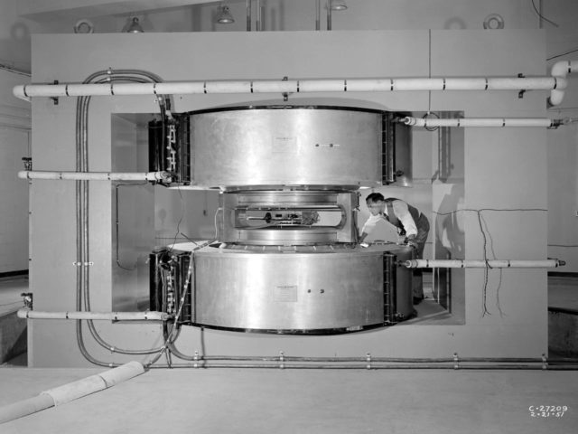 NACA Researcher Examines the Cyclotron