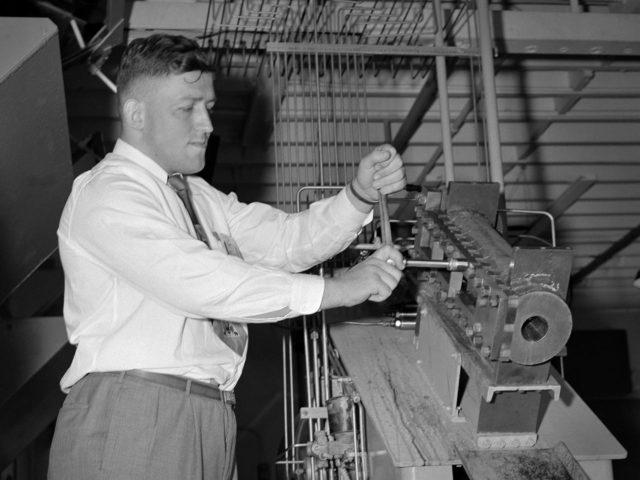 Bill Kerslake Preparing a Test in the Rocket Laboratory