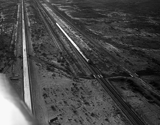 [Aerial View, Diesel Locomotive, Southern Pacific Railroad]
