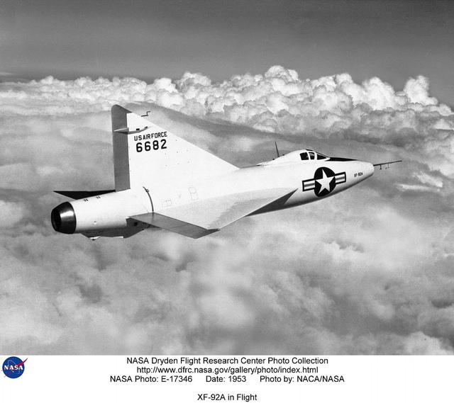 XF-92A in Flight