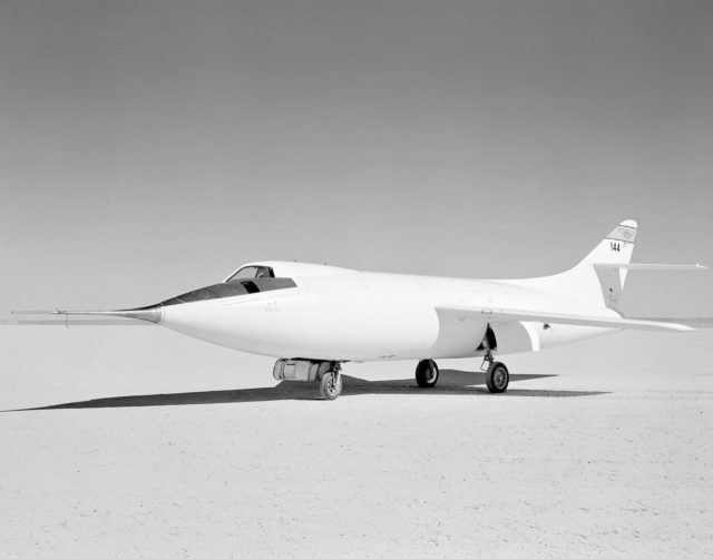 D-558-2 Aircraft on lakebed E54-1441