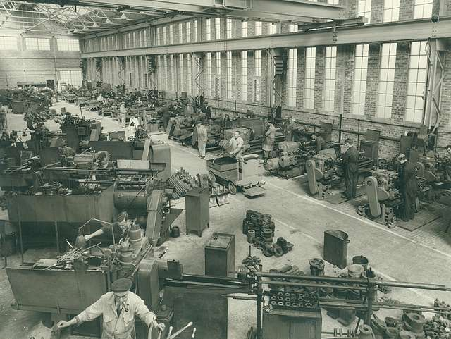 Inside the Doxford Engine Works Sub Assembly Shop