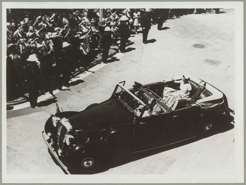 Queen Elizabeth II and the Duke of Edinburgh in Sydney for the Royal Visit, 1954