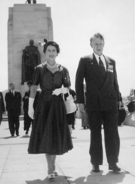 Sir Walter Jackson Cooper and Queen Elizabeth II