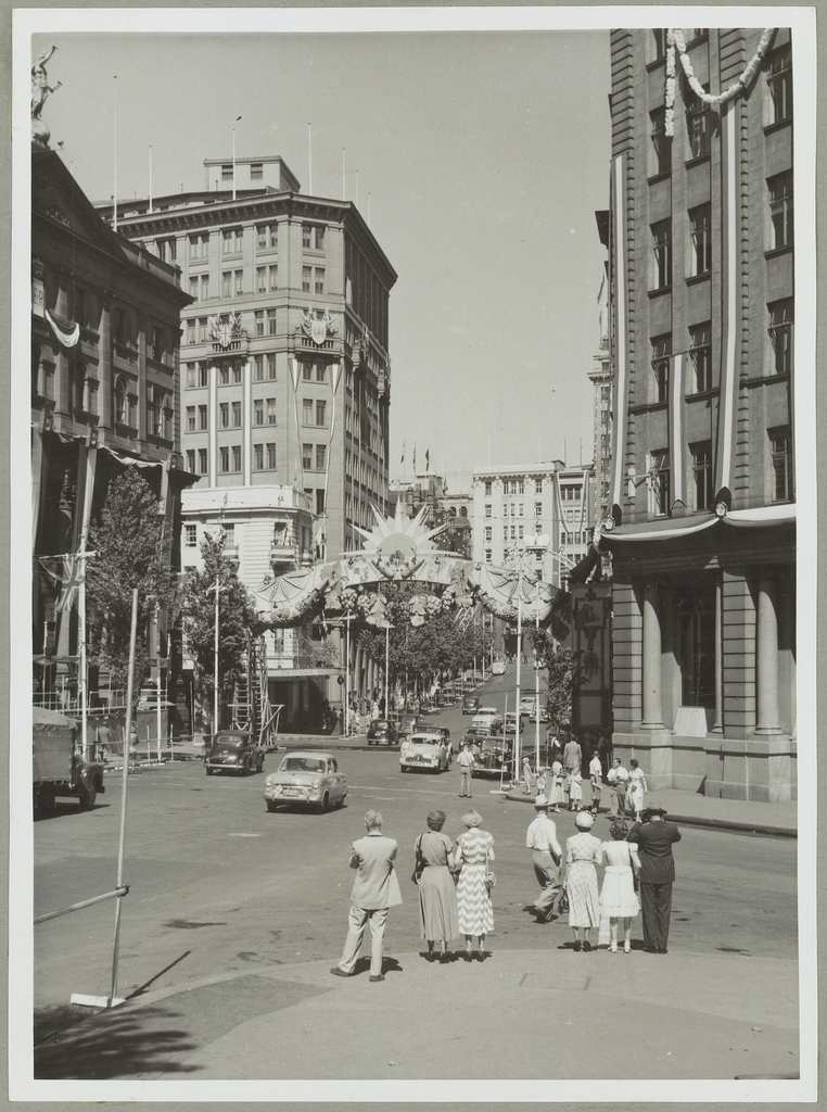 Sydney Streets decorated for the Royal Visit, 1954