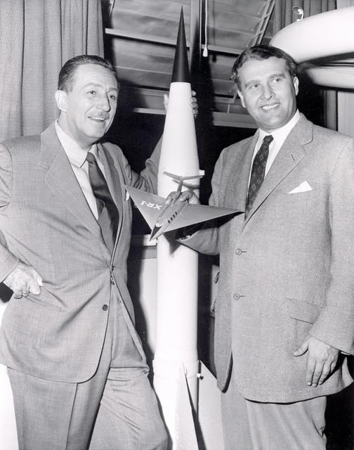 Walt Disney and Dr. Wernher von Braun