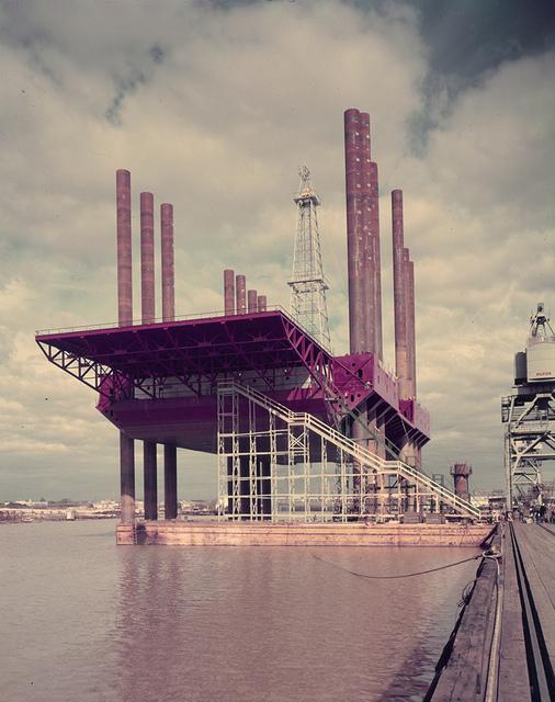 DeLong Barge at Con. Western Dock, Orange, Texas