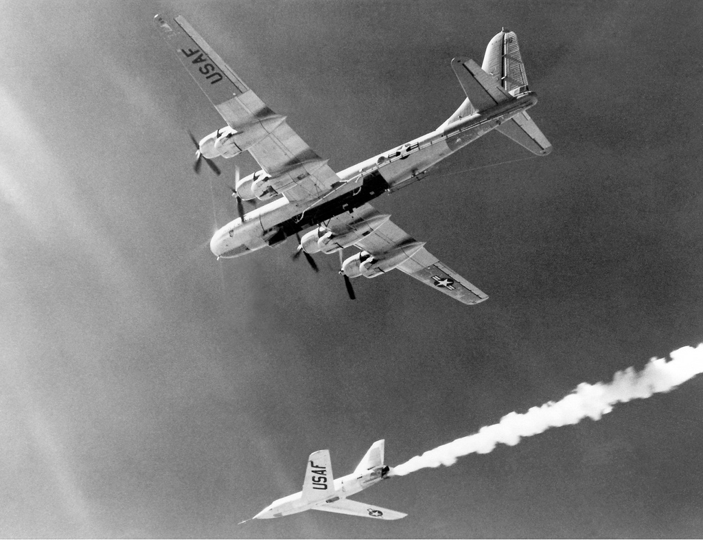 X-2 After Drop from B-50 Mothership
