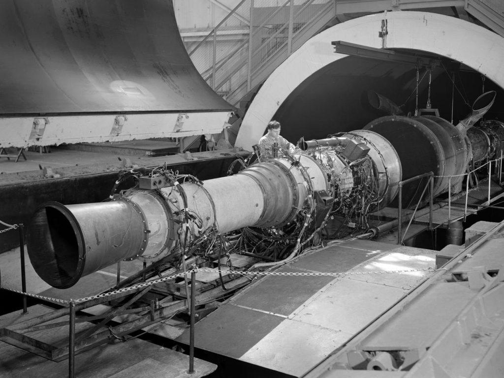 rolls royce avon ra 14 engine in the altitude wind tunnel picryl public domain image picryl