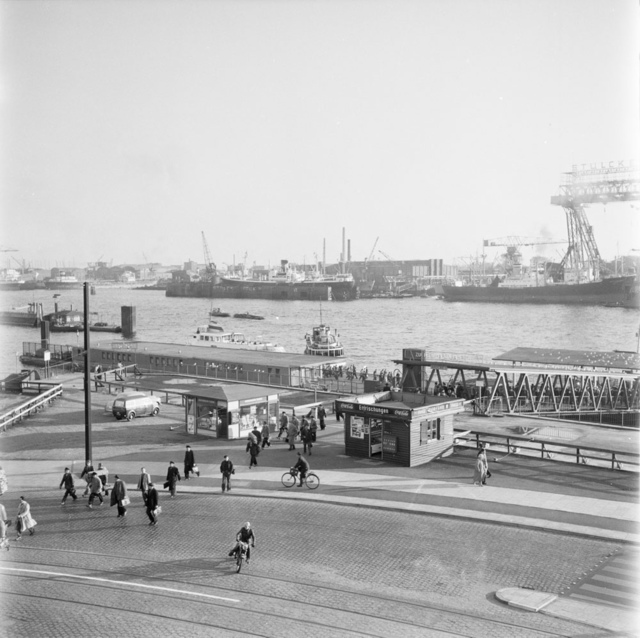 The harbour in Hamburg 1956