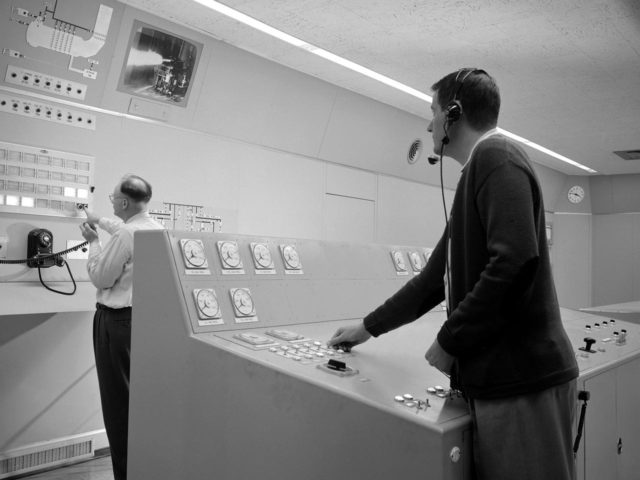 Control Room at the NACA's Rocket Engine Test Facility