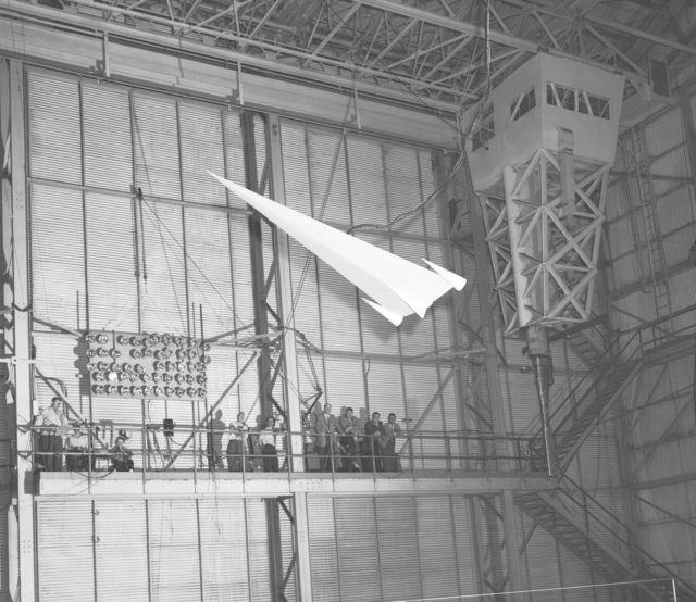Hypersonic Glider Model in Full Scale Tunnel 1957