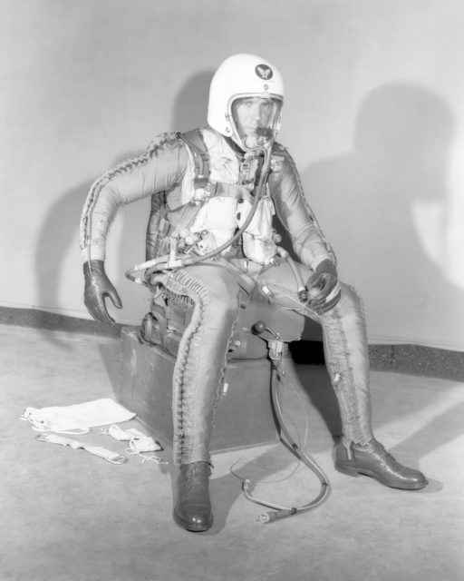 Robert Champine in X-Series Pressure Suit