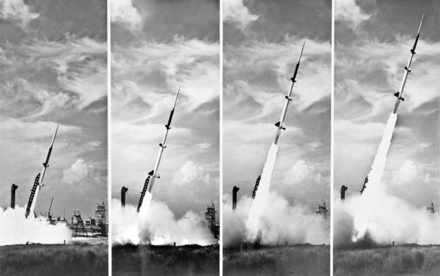 Five Stage Missile Research Rocket, Wallops Island , 1957