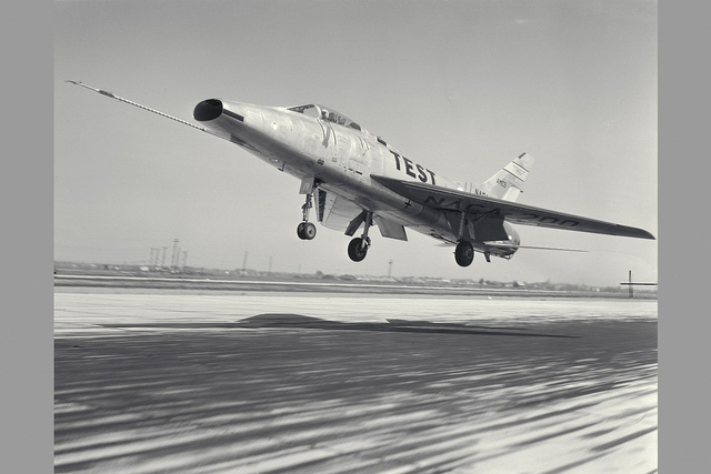 F-100A Super Sabre Airplane