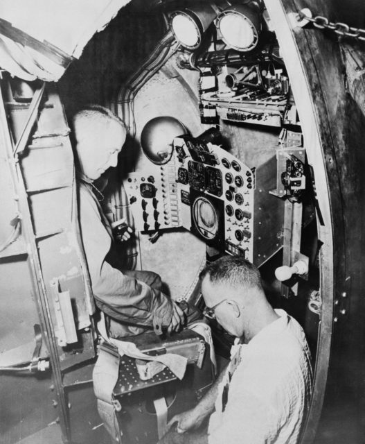 Astronaut Scott Carpenter during centrifuge training