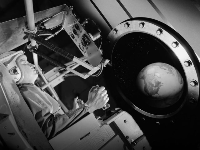 Artistic View of Mercury Astronaut Training