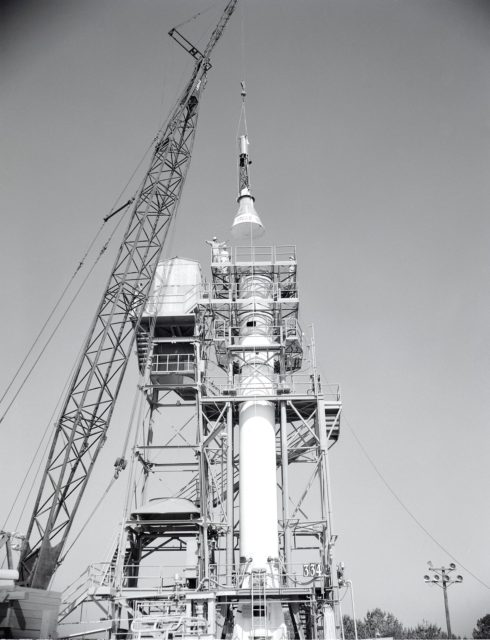 Mercury Project - Installation of the Mercury capsule
