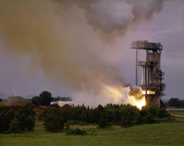 Saturn I - testing of the Saturn I S-I (first) stage - Saturn Apollo Program
