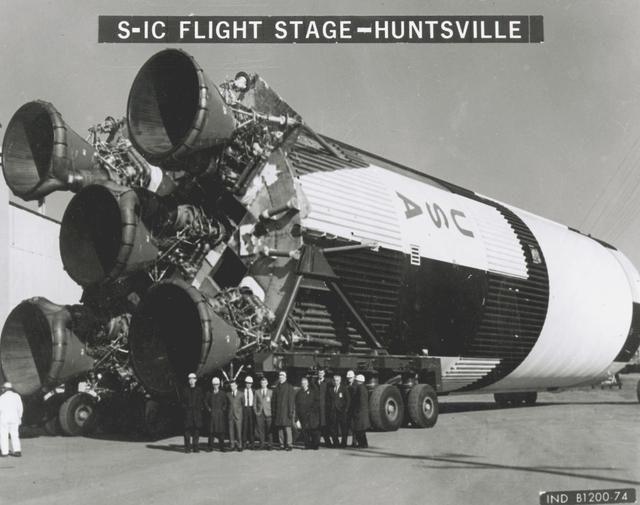 Saturn V - Saturn Apollo Program - at Marshall Space Flight Center in Huntsville, Alabama