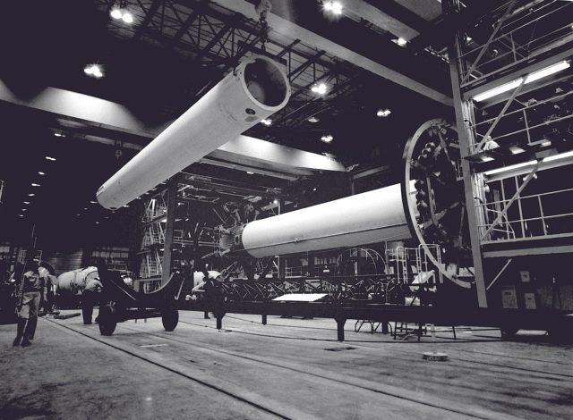 Saturn I in the fabrication and engineering laboratory - Saturn Apollo Program
