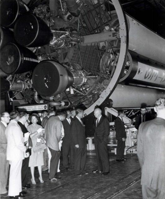 Wernher von Braun and President Dwight D. Eisenhower