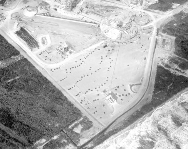 CAPE CANAVERAL, Fla. – Aerial view of Complex 34, looking northwest.    Photo credit: NASA KSC-60-2654
